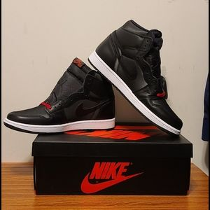 New Nike Air Jordan 1 black satin retros